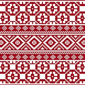 Modèle sans couture de texture tricot rouge