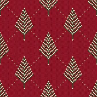 Modèle sans couture sur la texture tricotée en laine