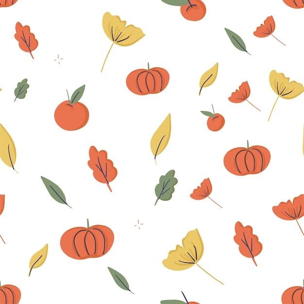 Modèle sans couture sur le thème de l'automne