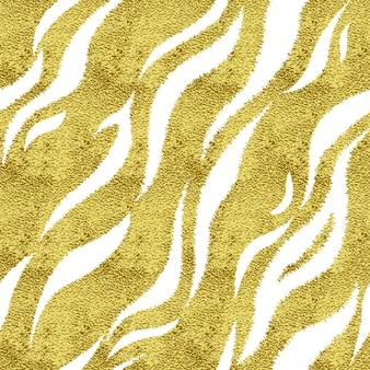 Modèle sans couture avec tigre de taches d & # 39; or