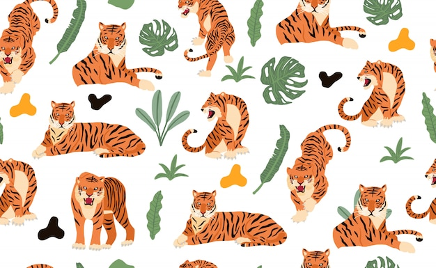 Modèle sans couture de tigre