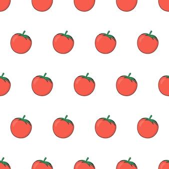 Modèle sans couture de tomate fraîche. illustration de thème de tomates