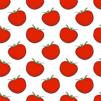 Modèle sans couture de tomates mûres
