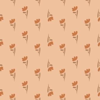 Modèle sans couture de tons pastel avec des fleurs simples