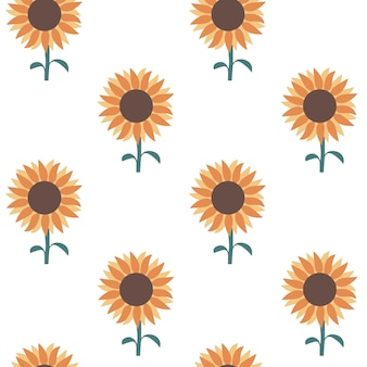 Modèle sans couture de tournesol impression de fleurs ensoleillées