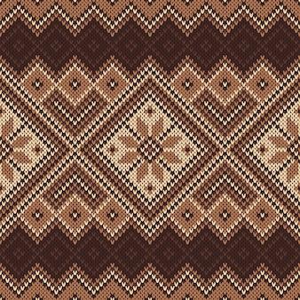 Modèle sans couture traditionnel de fair isle
