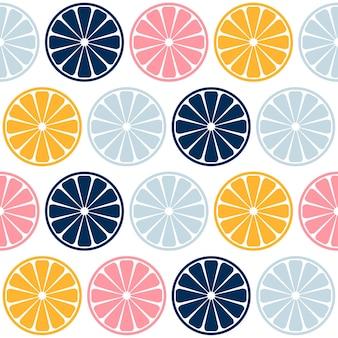 Modèle sans couture de tranche de citron vert coloré