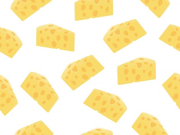 Modèle sans couture de tranche de fromage