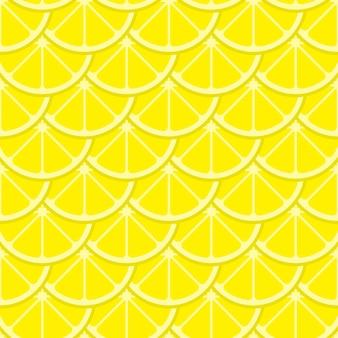 Modèle sans couture de tranches de citron lumineux vecteur