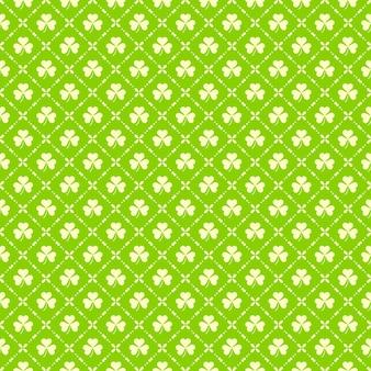 Modèle sans couture avec trèfle à quatre feuilles