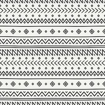 Modèle sans couture tribal dessinés à la main