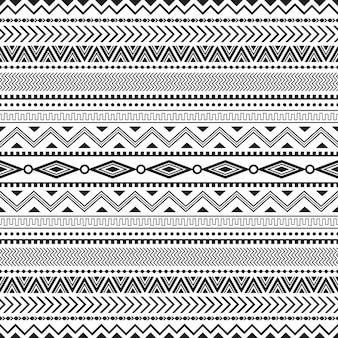 Modèle sans couture tribal sans soudure géométrique