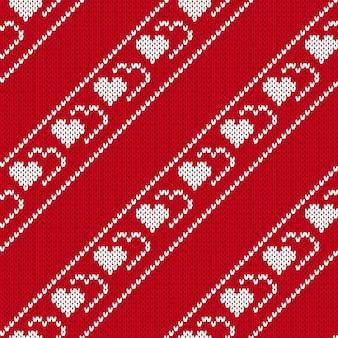 Modèle sans couture en tricot.
