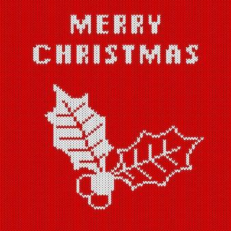 Modèle Sans Couture Tricoté Abstrait. Texture De Tricot Pour Le Nouvel An, Papier D'emballage Joyeux Noël. Vecteur Premium