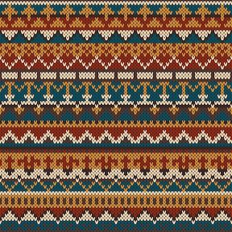 Modèle sans couture tricoté dans le style fair isle.