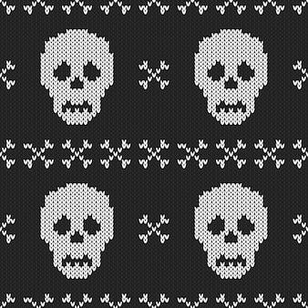 Modèle sans couture tricoté d'halloween.