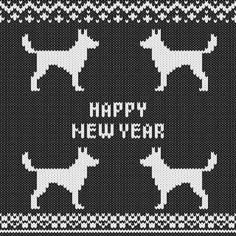 Modèle sans couture tricoté monochrome abstrait. échantillon de texture en tricot pour carte de nouvel an, invitation de noël, papier d'emballage de vacances, voyage de vacances d'hiver et publicité de station de ski, etc.