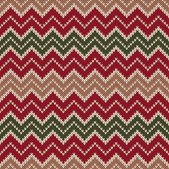 Modèle sans couture tricoté de style chevron. fond abstrait