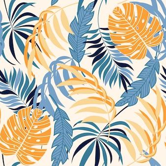 Modèle sans couture tropical abstrait