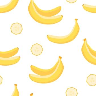 Modèle sans couture tropical de banane