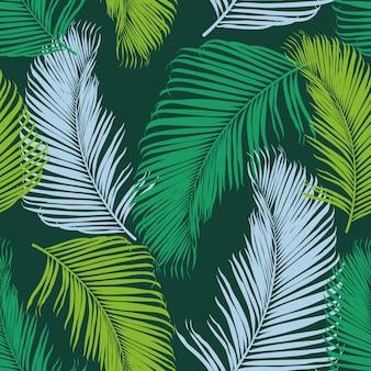 Modèle sans couture tropical fashion.