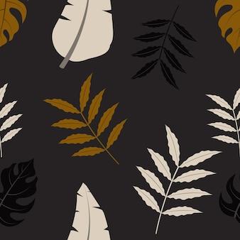 Modèle sans couture tropical avec des feuilles