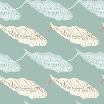 Modèle sans couture tropical de mode avec des feuilles. fond d'écran de plantes à feuillage botanique vintage. toile de fond hawaïenne exotique. conception pour tissu, impression textile, emballage, couverture. illustration vectorielle