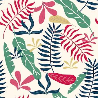 Modèle sans couture tropical pour papier peint