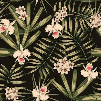 Modèle sans couture tropical rétro