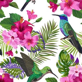 Modèle sans couture tropical