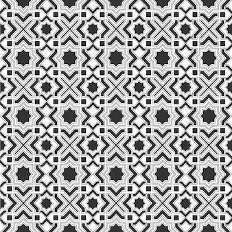 Modèle sans couture de tuile islamique monochrome
