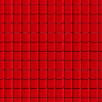 Modèle sans couture de tuiles de toit. arrière-plan de profils de bardeaux rouges. illustration vectorielle.