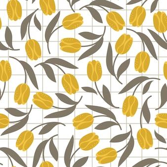 Modèle sans couture de tulipes