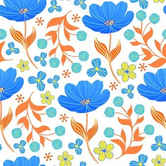 Modèle sans couture avec tulipes