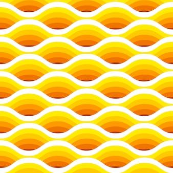 Modèle sans couture vague abstraite en couleurs jaunes