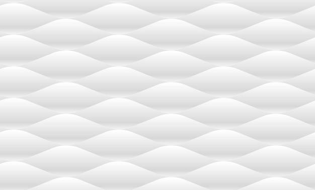Modèle sans couture de vague en relief blanc. illustration vectorielle
