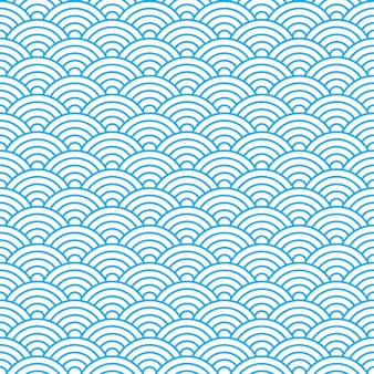 Modèle sans couture de vagues dans le style ancien de la chine