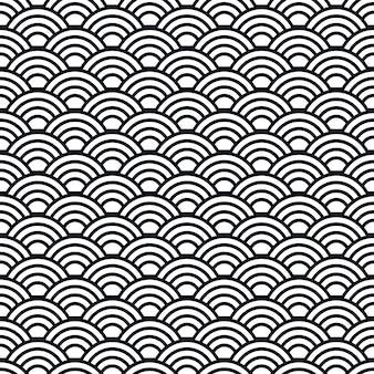 Modèle sans couture de vagues japonaises