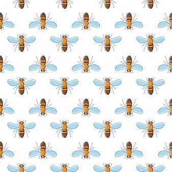 Modèle sans couture de vecteur abeille
