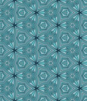 Modèle sans couture de vecteur abstrait géométrique. kaléidoscope