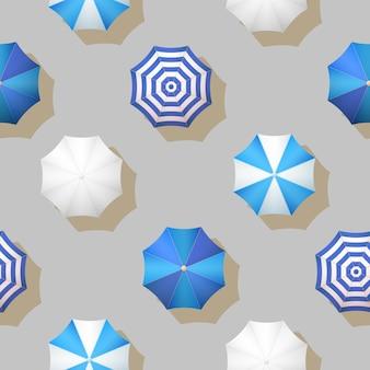 Modèle sans couture de vecteur automne parapluies de vecteur