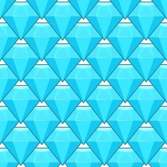 Modèle sans couture de vecteur bleu diamants