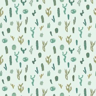 Modèle sans couture de vecteur avec cactus.