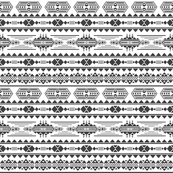 Modèle sans couture de vecteur de culture aztèque. maya mexicaine fond sans fin