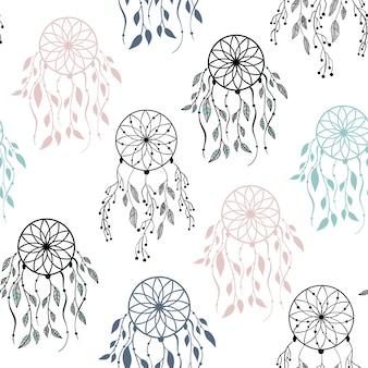 Modèle sans couture de vecteur dans un style scandinave