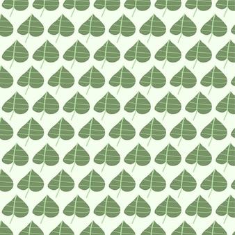 Modèle sans couture de vecteur feuille de bétel fond de tshirt tissu vert