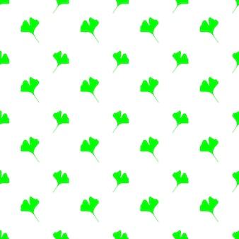 Modèle sans couture de vecteur avec des feuilles de ginkgo biloba