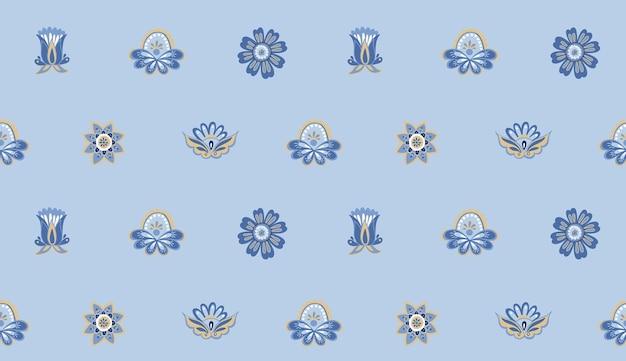 Modèle sans couture de vecteur de fleurs orientales abstraites