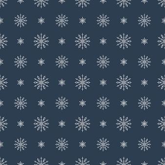 Modèle sans couture de vecteur avec des flocons de neige