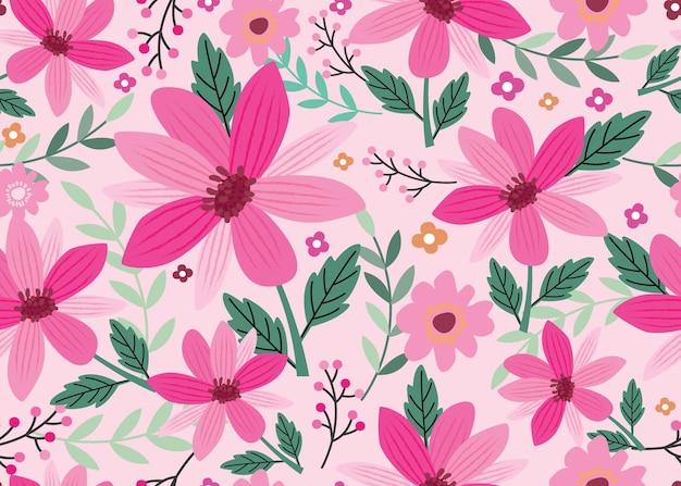 Modèle sans couture avec vecteur floral avec belle fleur